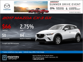 Save on the All-New 2017 Mazda CX-3 GX Today!