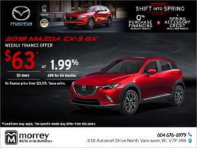 Get the 2018 Mazda CX-3!