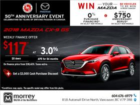 Get the 2018 Mazda CX-9!