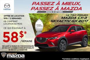 Louez la toute nouvelle Mazda CX-3 GX 2017
