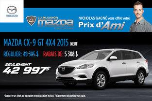 Prix d'ami Mazda : CX-9 GT 2015