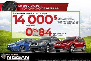 La liquidation top chrono de Nissan!