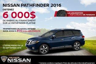 Nissan Pathfinder 2016 en rabais