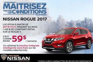 Nissan Rogue 2017 en location
