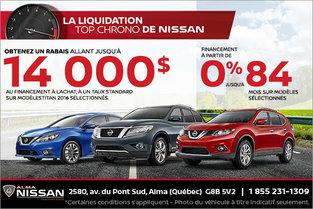 L'événement la liquidation top chrono de Nissan!