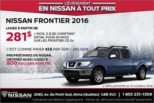 Nissan Frontier 2016 en rabais