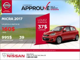 Nissan Micra 2017 en rabais