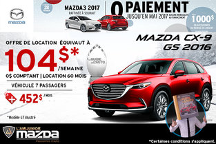 Louez la toute nouvelle Mazda CX-9 GS 2016