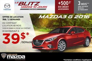 Louez la Mazda3 G 2016
