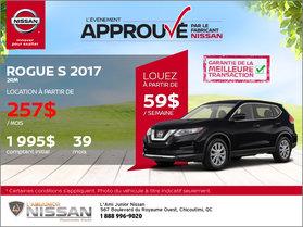 Nissan Rogue S 2017 en location