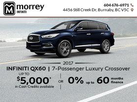 Amazing Savings on the 2017 QX60!