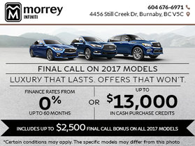 Final Call on 2017 Models