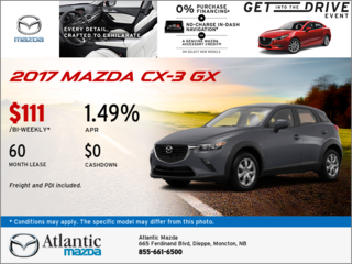 Save on the 2017 Mazda CX-3 GX today!