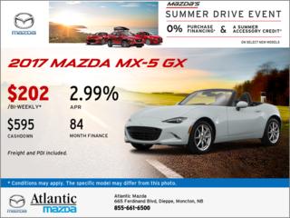 The 2017 Mazda MX-5 GX