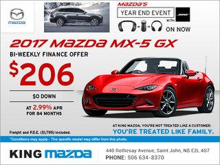 Get the 2017 Mazda MX-5 GX