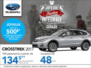 Louez le Subaru Crosstrek 2017 à partir de 119 $ aux deux semaines