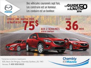 L'événement véhicules de l'année Mazda