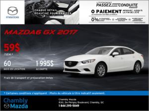 Offrez-vous la Mazda6 GX 2017 en rabais!