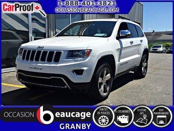 Jeep Grand Cherokee 2015 Limited; Cuir, Toit Pano, Navigation