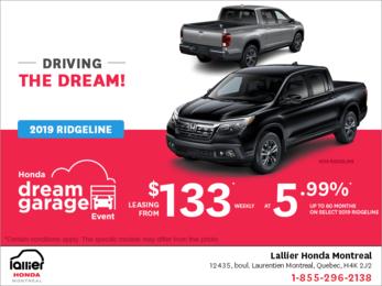 Lease the 2019 Honda Ridgeline!