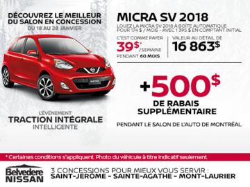 La Nissan Micra 2018