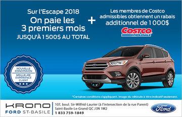 Économisez sur le Ford Escape!