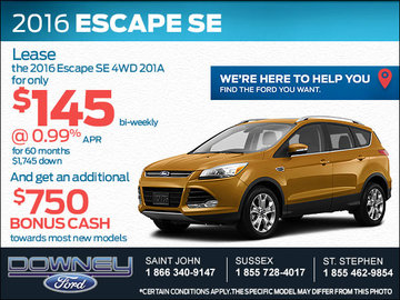 Get the New 2016 Ford Escape Today!