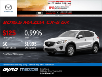 Get the New 2016.5 Mazda CX-5 GX Now!