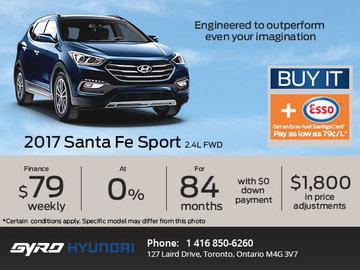 Huge Savings on the 2017 Santa Fe Sport!