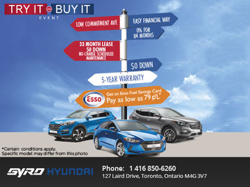 Try It or Buy It Event at Gyro Hyundai!