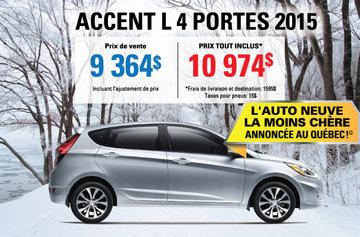 2015 Accent L 4 doors