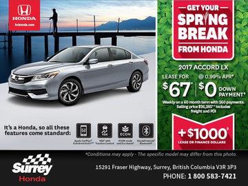 Save Big on the All-New 2017 Honda Accord Sedan Today!