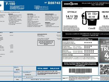 2013 Ford F-150 XTR 3.5L 6 CYL AUTOMATIC 4X4 SUPERCAB