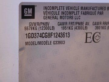2014 GMC Savana 3500 6.0L 8 CYL AUTOMATIC RWD COMMERCIAL CUTAWAY