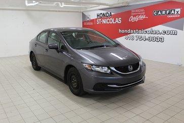 Honda Civic Sedan LX + GARANTIE 120 000KM + SIEGES CHAUFFANTS + 2015