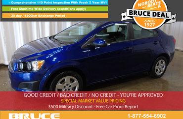 2013 Chevrolet Sonic LS 1.8L 4 CYL 5 SPD MANUAL FWD 4D SEDAN | Photo 1