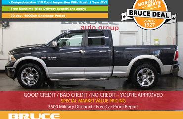 2013 Dodge RAM 1500 Laramie 5.7L 8 CYL HEMI AUTOMATIC 4X4 QUAD CAB | Photo 1