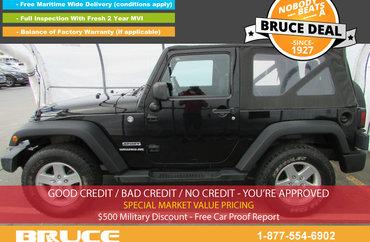 2011 Jeep Wrangler Sport 3.8L 6 CYL 5 SPD MANUAL 4X4 - 2 DOOR