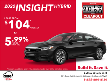 Lease the 2020 Honda Insight!