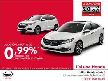 Le grand solde 2019 Honda