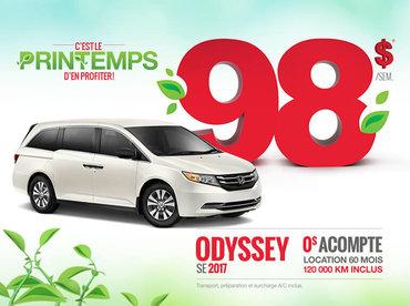 Le Honda Odyssey SE 2017 en location