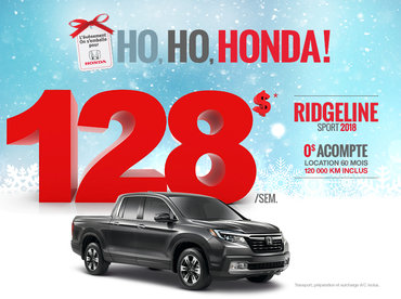 On s'emballe pour Honda - Ridgeline