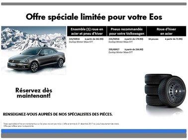 Promotion  spéciale pneus d'hiver pour votre Eos