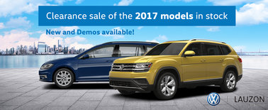 Clearance sale of the 2017 models in inventory