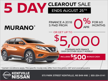 Nissan - Get the 2018 Nissan Murano today!