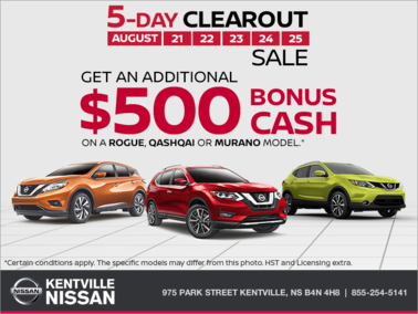 Nissan - Nissan's 5 Day Clearout Sale!