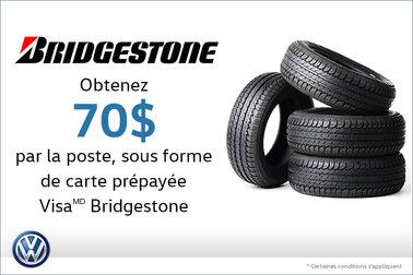 Offre sur les pneus Bridgestone