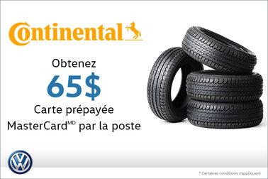 Offre sur les pneus Continental