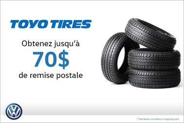 Offre sur les pneus Toyo Tires