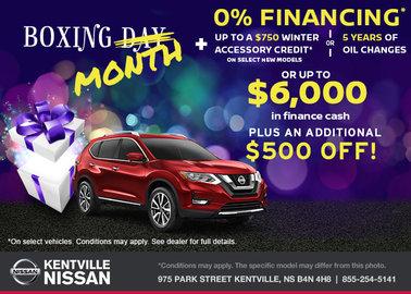 Nissan - Boxing Month Savings!